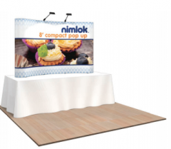 Nimlok 8ft Curved Compact Tabletop Kit