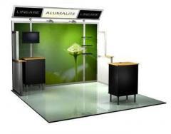 Abex Private label Lineare Alumalite Booth