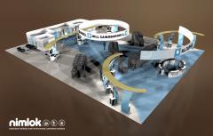 Nimlok Custom Modular Island Exhibit