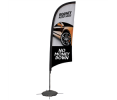 9ft Razor Sail Sign Banner Kit (Single-Sided)