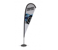 11.5ft Tear Drop Sail Sign Banner Kit (Single-Sided)