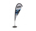 8ft Tear Drop Sail Sign Banner Kit